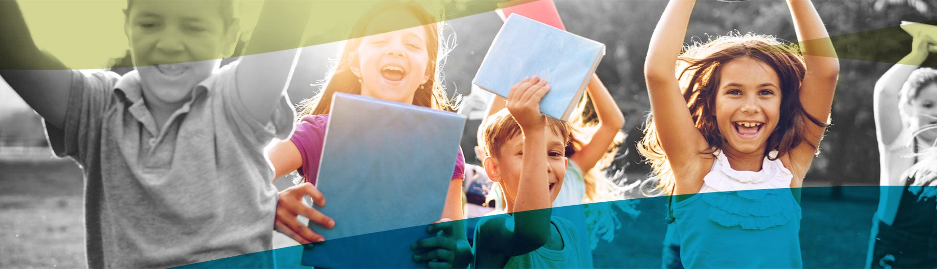 kids celebrating learning