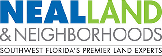 neal land neighborhoods logo with green and blue