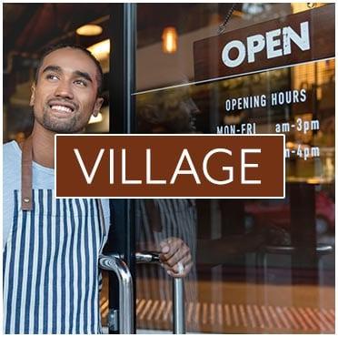 shop keeper opening a door