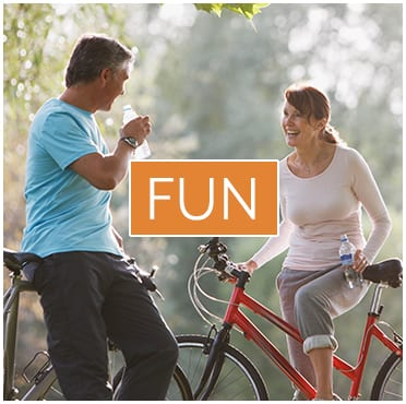 couple on bikes fun biking communities