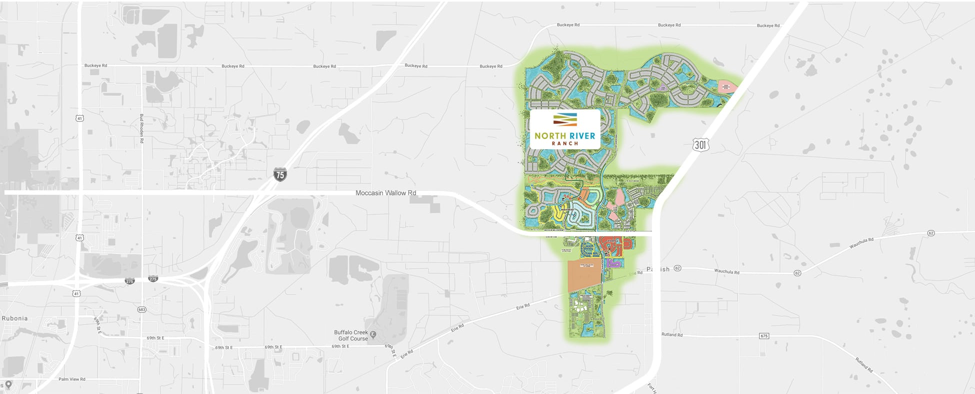 static map of proposed neighborhood location manatee county