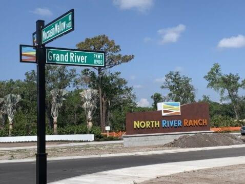 new home land development main entrance florida