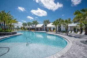 new home development beach entry pool Parrish Florida