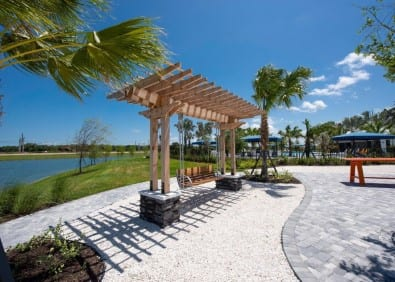 new home development fire pit seating Parrish Florida