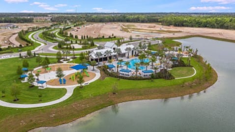 New community pool and playground North River Ranch Parrish