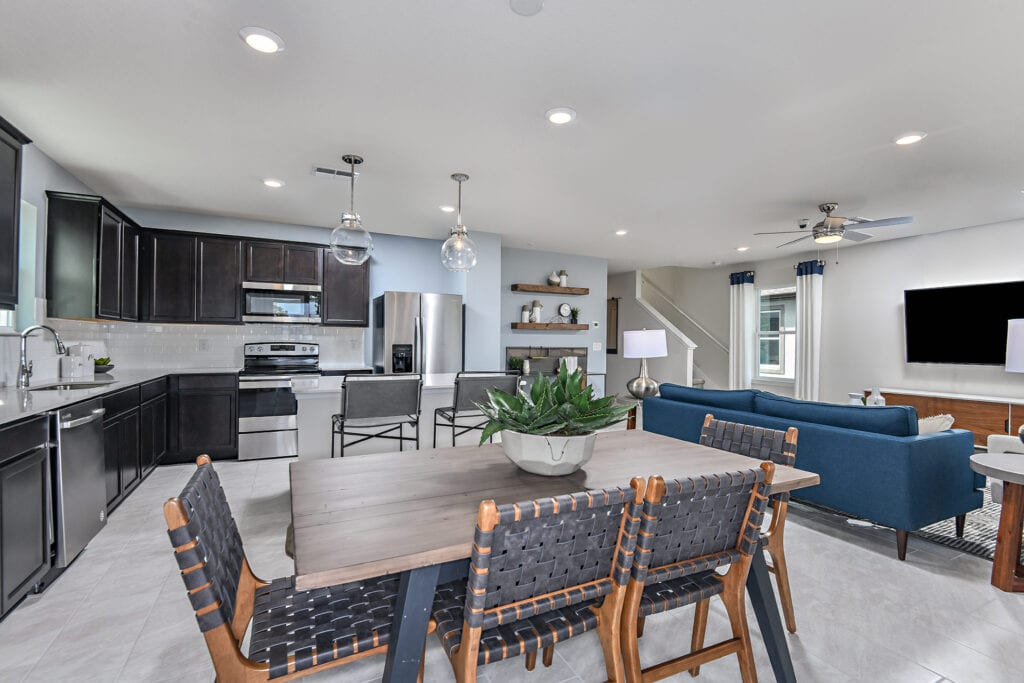 Centex model home north river ranch dining and kitchen