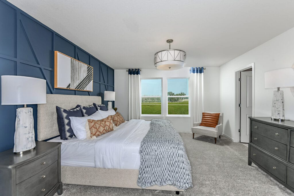 Centex model home north river ranch master bedroom
