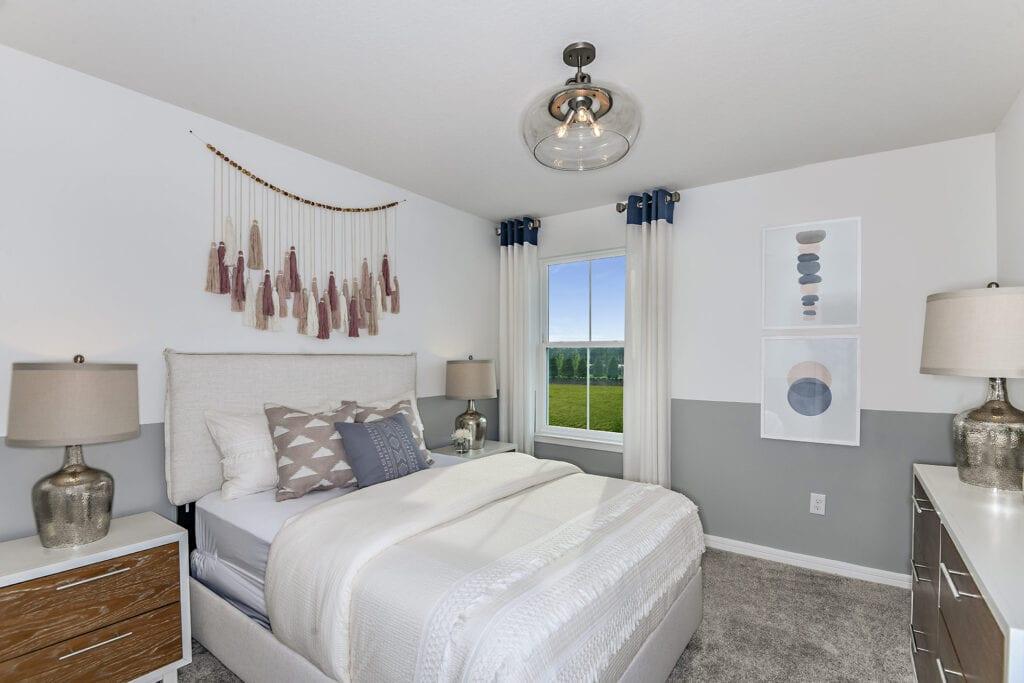 Centex model home north river ranch guest bedroom