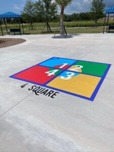 Four-Square Playground Games North River Ranch