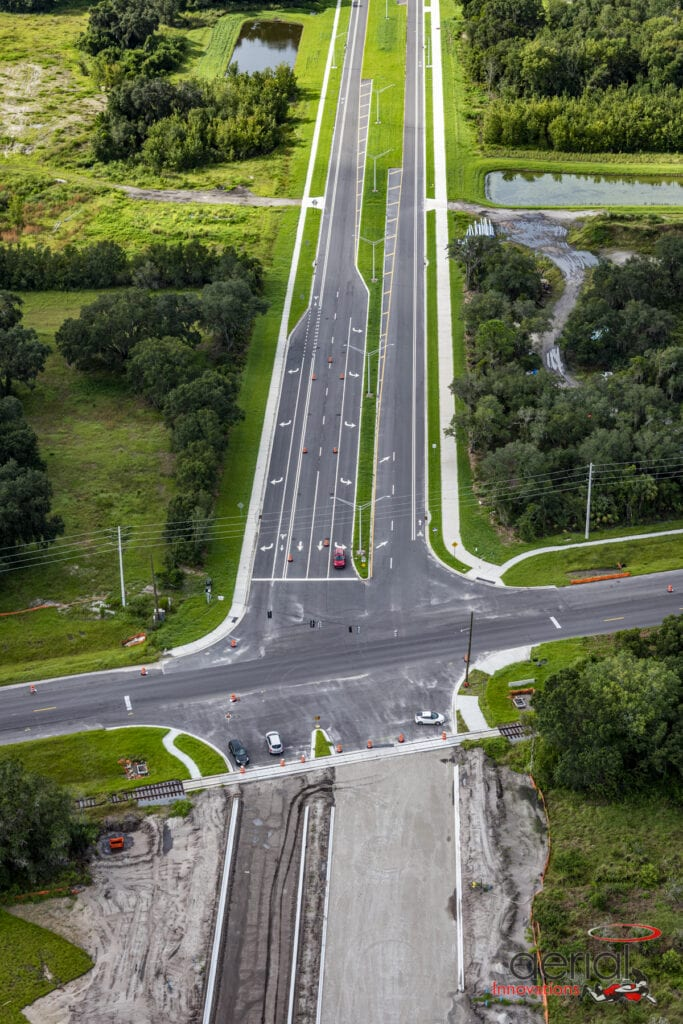 Road development aerial North River Ranch
