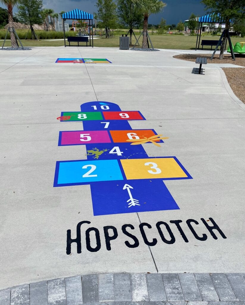 Hopscotch playground game North River Ranch