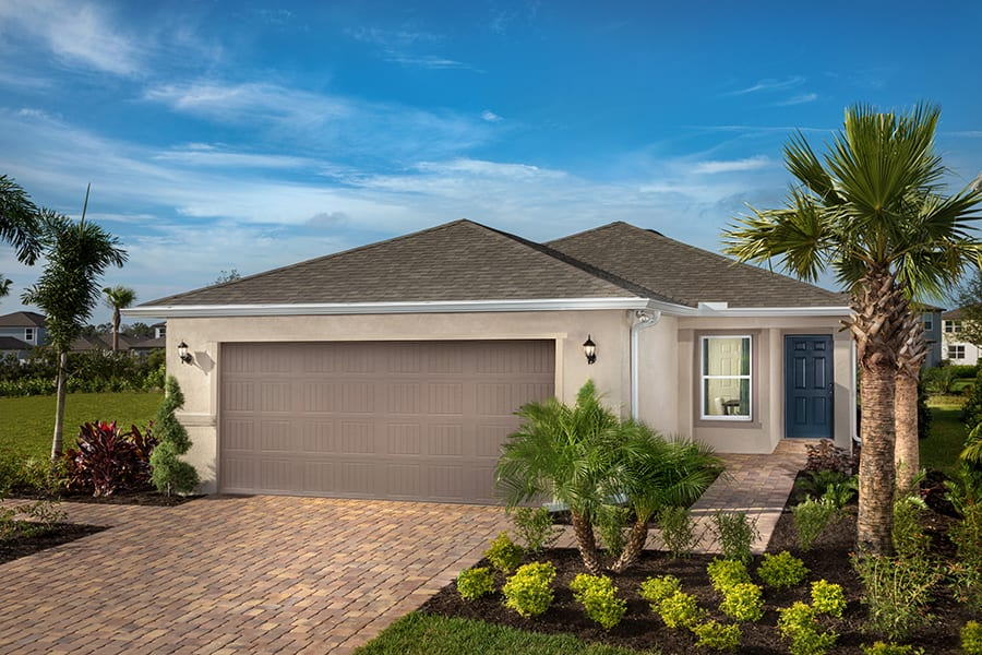 KB Home 1637 model home at North River Ranch - New Home Community - New Construction Homes For Sale in Parrish, FL