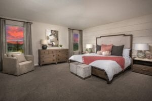 Master Bedroom 2107 KB Home Model North River Ranch