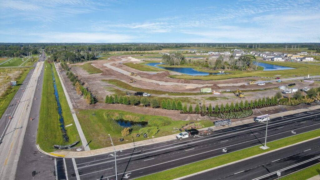 Ft. Hamer Road aerial landscaping Brightwood
