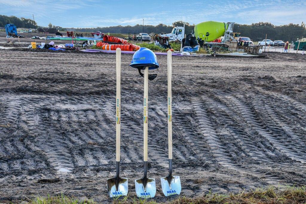 Neal Land & Neighborhoods Groundbreaking Shovels