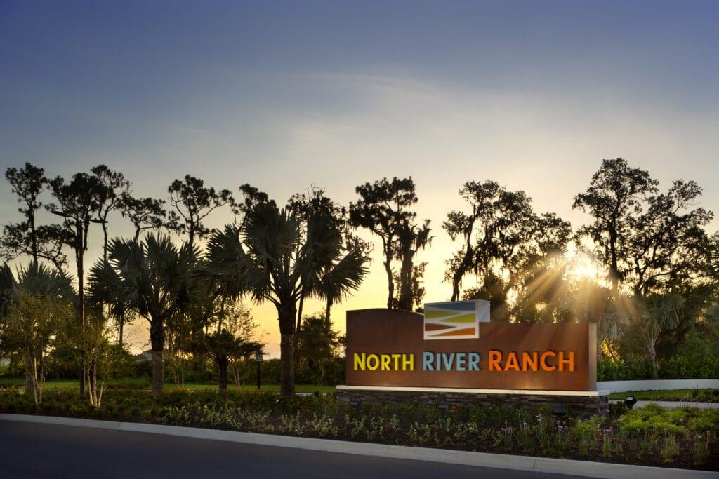 North River Ranch Entry at Dawn