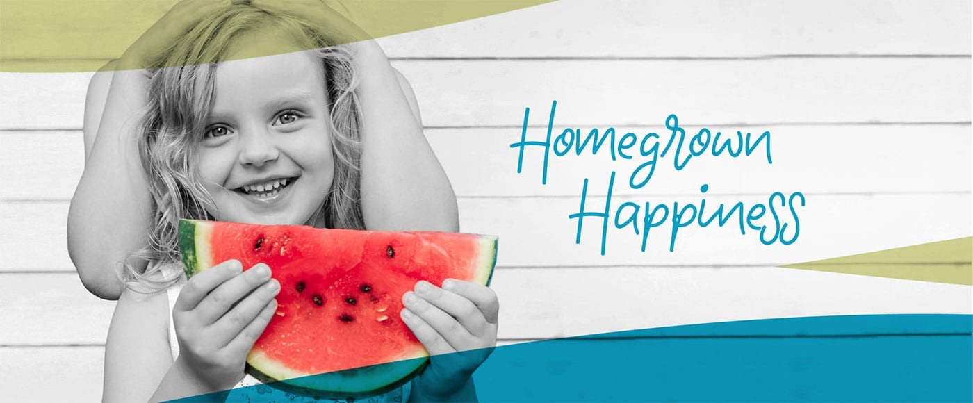 New Home Community - New Construction Homes For Sale - girl eating watermelon