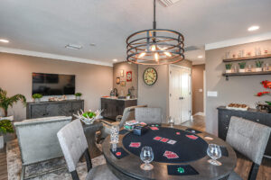 Game Room and Card Table Model Home North River Ranch