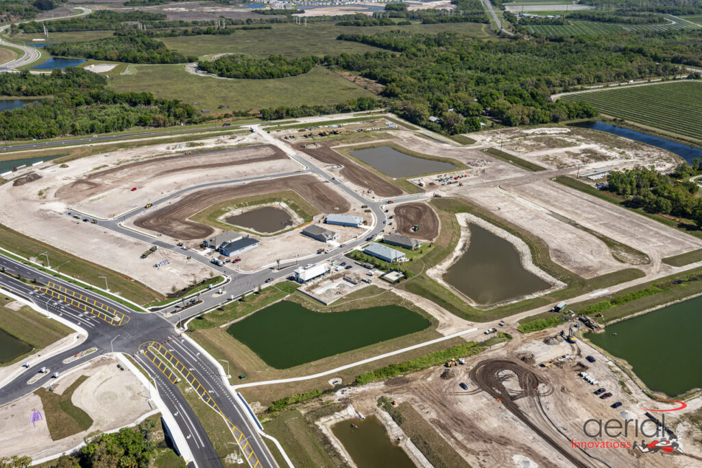Aerial neighboorhood development North River Ranch