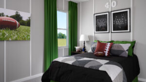 Themed football bedroom model home