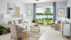 Living Room overlooking lanai and water