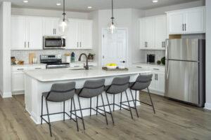 white model home kitchen north river ranch