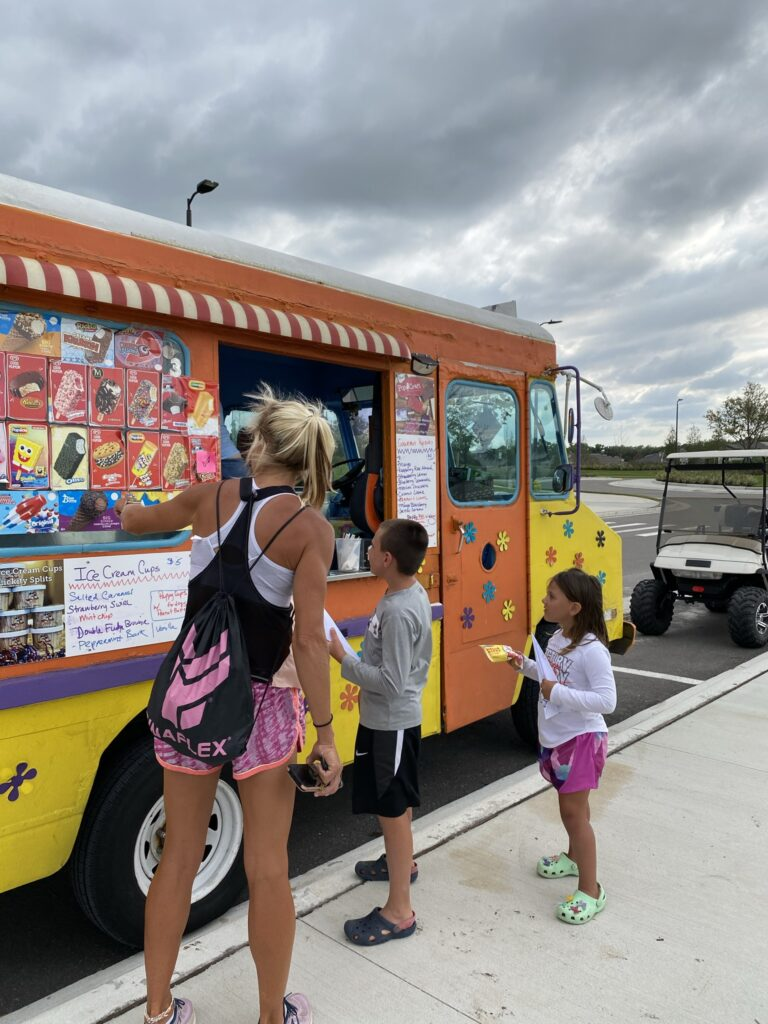 ice cream truck with kids north river ranch