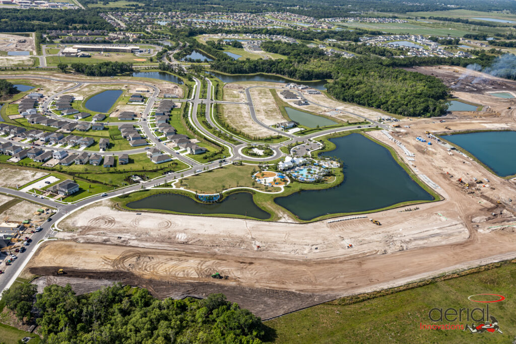 Aerial North River Ranch land development