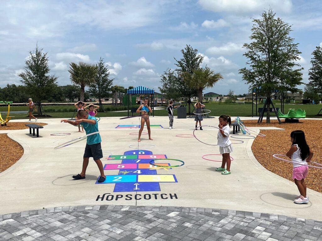 Kids playground hula hoop
