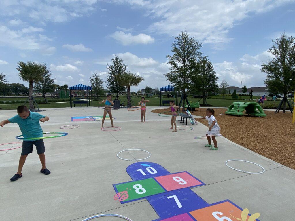 Kids hula hoops playground north river ranch