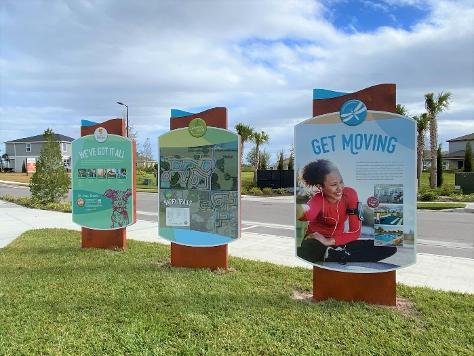 Colorful display signs north river ranch