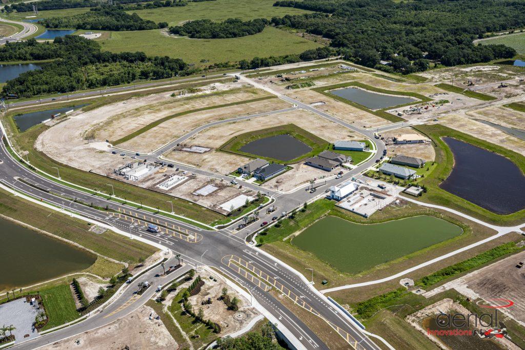 Aerial land development Parrish Florida