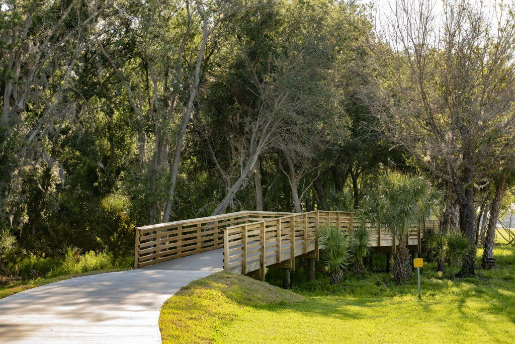 Boardwalk through conservation North River Ranch