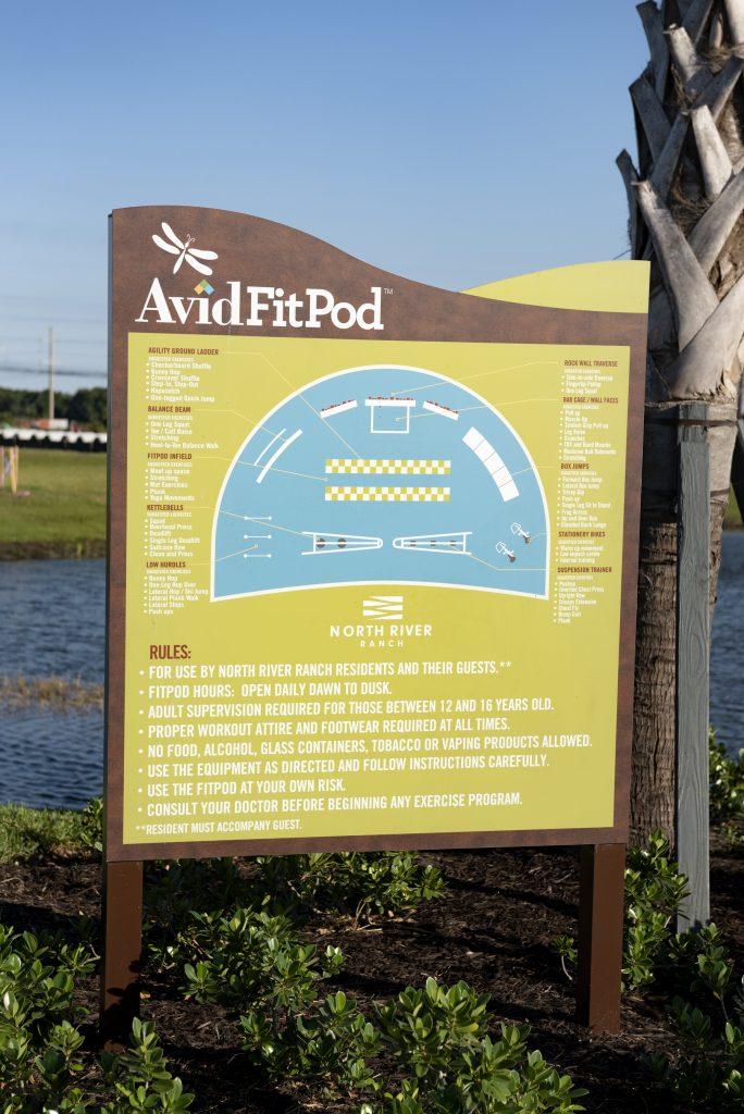 Avid FitPod sign