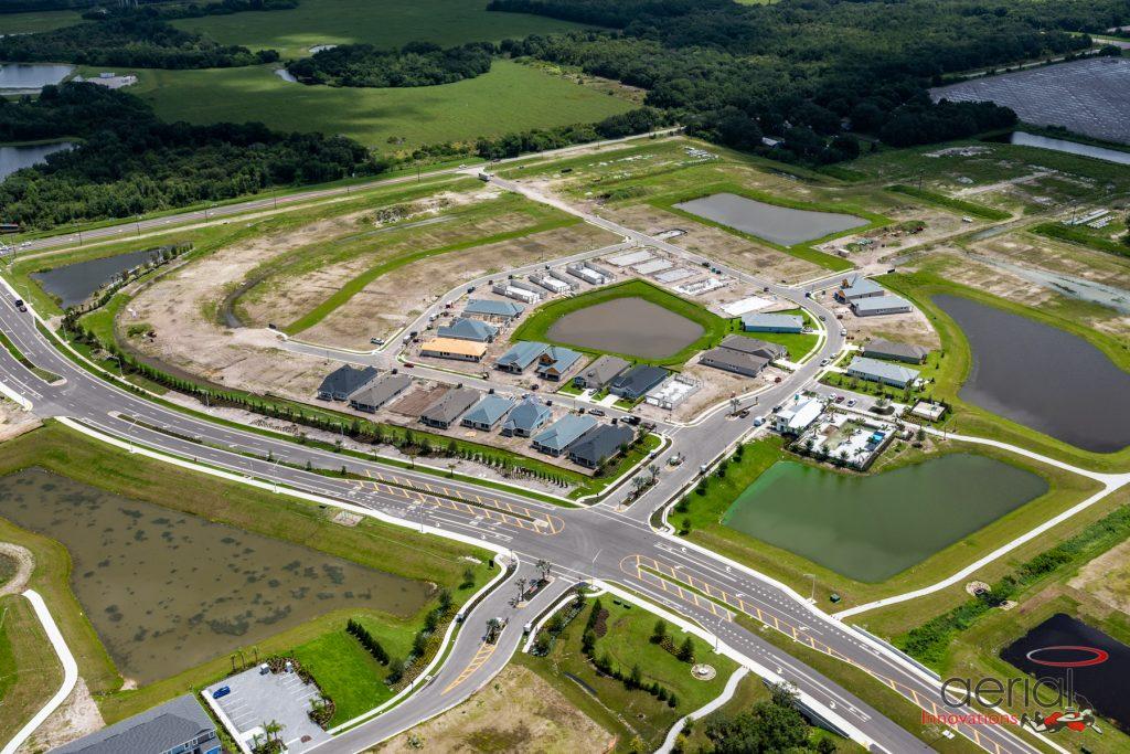 Aerial land development North River Ranch